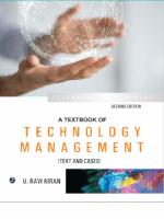 A Textbook of Technology Management