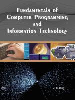 Fundamentals Of Computer Programming And IT