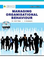 Managing Organisational Behaviour