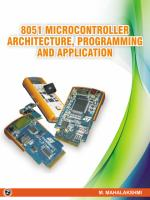 Microcontroller Architecture, Programming And Application